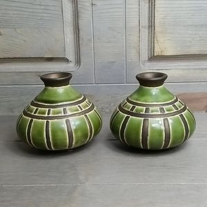 Pair of decorative ceramic vases